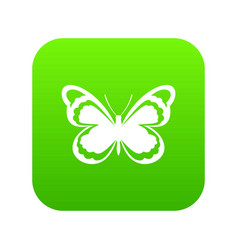 Small butterfly icon digital green vector