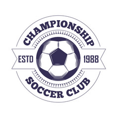 Soccer club or football league championship cup vector