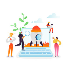 startup business project teamwork concept people vector image