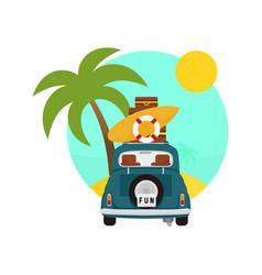 summer tropic traveling activity scenery design vector image