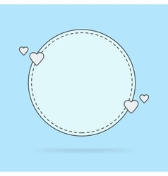 Template for the text bubble quotes vector image