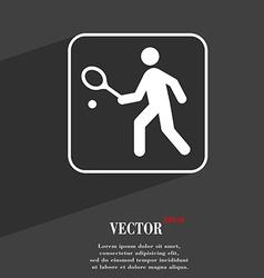 Tennis player symbol Flat modern web design with vector image