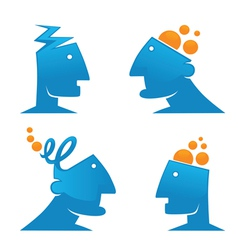 Thinking and creativity vector