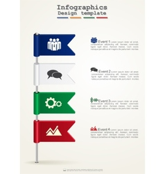 Timeline infographics with icons vector image