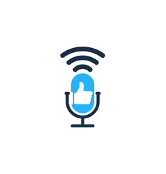 Top podcast logo icon design vector