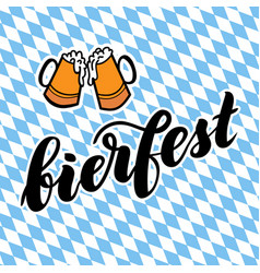 Traditional german oktoberfest bier festival with vector