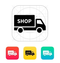 Truck shop icon vector