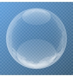 Unique bubble with glare vector