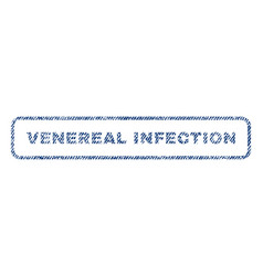 Venereal infection textile stamp vector