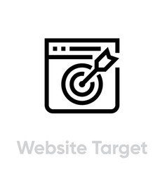 Website target personal targeting icon editable vector