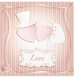 Wedding heart pink vector