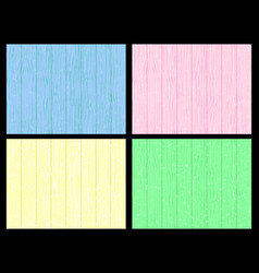 wooden wall blue pink yellow green colors vector image