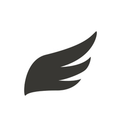 Abstract black wing icon simple style vector image vector image