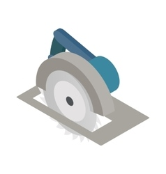 Circular saw icon isometric 3d style vector image vector image