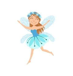Cute Fairy With Chaplet Girly Cartoon Character vector image vector image