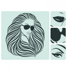 long hairstyle vector image vector image
