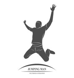 man jump success vector image