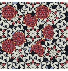 Seamless mandalas background Red and gray mandala vector image vector image
