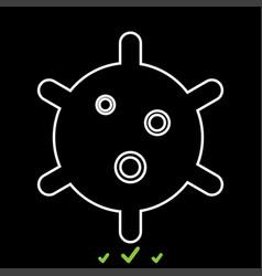 virus it is white icon vector image