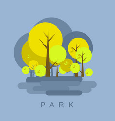 city park vector image vector image