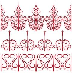 elements for design Set of borders in the form of vector image vector image