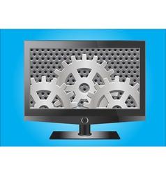 HD flat screenTelevesion vector image