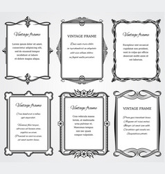 vintage victorian border frames set for vector image vector image