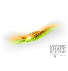 abstract gree orange center text vector image vector image