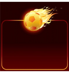 fiery soccer ball vector image vector image