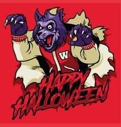 Halloween design of werewolf vector