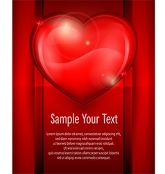 heart red card 10 v vector image vector image