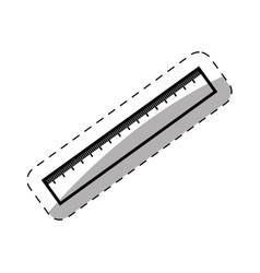 ruler utensil school thin line vector image