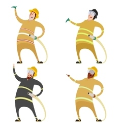 Set of firemans vector image