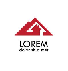home arrow logo vector image vector image