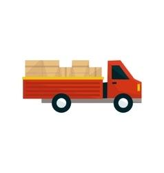 Open Deck Cargo Truck vector image vector image