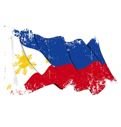 Philippines Flag Grunge vector image vector image