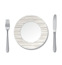 plate wood vector image