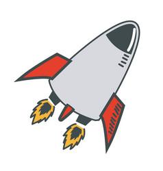 rocket launch start up business innovation image vector image