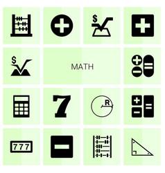 14 math icons vector