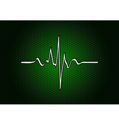 abstract green cardio vector image