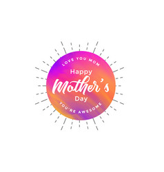 Abstract happy mothers day card design vector