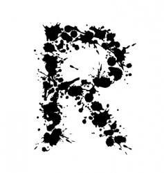 alphabet ink r vector image