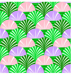background with simple flovers and leaves vector image