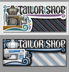 Banners for tailor shop vector