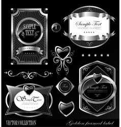 black gold labels vector image