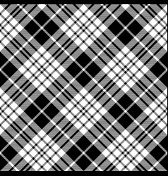 Blackberry clan tartan diagonal black white vector