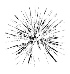 Broken glass grunge texture white and black vector image