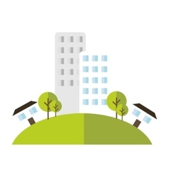 Building house home green area vector