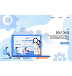 business job search interview employee character vector image