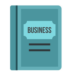 Business plan icon flat style vector